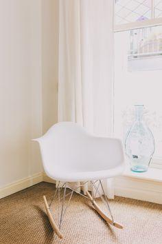 RAR design schommelstoel wit