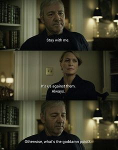The underwoods together again House of cards 4 season