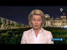 Ursula von der Leyen, Bundesverteidigungsministerin in ARD tagesthemen ,...