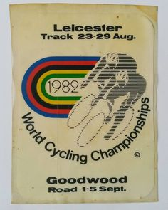 World Cycling Championships window sticker from 1982. #procycling #cycling #lovecycling #cyclinglife #retrocycling #ucicycling  #cycleracing #bicyclelife #cyclelifestyle #cyclingteam #advertising #cyclepassion #bicyclepassion #peloton #roadracing #roadcycling #trackcycling #hookedoncycling #cyclingworldchampionships #uci #cyclingfans