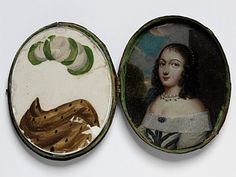17th century oil portraits/costume change: viewers could change portrait w/mica overlays