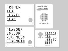 Moving Brands - All about tea #businesscard