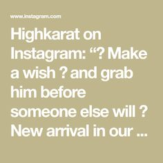 """Highkarat on Instagram: """"💫 Make a wish 💫 and grab him before someone else will 😉 New arrival in our shop @highkarat #genie #makeawish #dreamscometrue . . . #gold…"""" Us Shop, Someone Elses, Make A Wish, Gold, Shopping, Instagram, Yellow"""