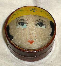 Adorable Vintage Art Deco Flapper Girl Pin Cushion Pin Holder | eBay