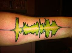 """He recorded his daughter saying """"I love you daddy and I'm a princess"""" and had the waveform put on his arm"""