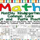 This  packet  has  180  cut-and-paste practice  pages  aligned  to  the  Kindergarten  Math  Common  Core  Standards. $