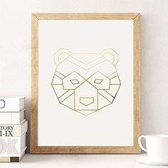 Bear Poster, Wall Decor, Minimal Art, Bear Print, Kids Room Decor, Illustration Print, Geometric Art Poster, Aztec Print, Gold Bear Poster. Every poster is designed with love by us. We print our works with high quality inks and premium paper.