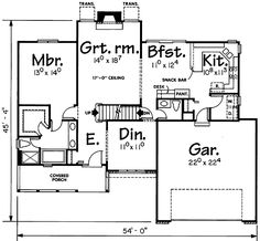 - 41744DB | 1st Floor Master Suite, Bonus Room, CAD Available, Country, PDF, Photo Gallery | Architectural Designs
