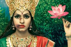 """Ad campaign of """"Save Our Sisters""""organization in India. Advertisers recreated an Indian Goddess who is depicted to be a victim of domestic violence. As the statistics show that 68% of Indian women endure domestic abuse."""