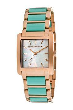 Mint & Gold Watch