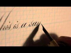 How to Write Copperplate - YouTube