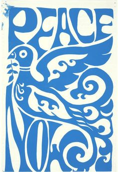 """""""Peace Now"""" is another anti-war protest poster from the 1960's"""