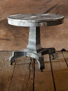 Antiques with a Touch of Heavy MetalFather-daughter duo Barry and Scarlett Scales take the fussiness out of period pieces by wrapping timeworn tables in zinc scraps rescued from old buildings near their hometown of Franklin, Tennessee.