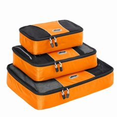 4847467c53 eBags Packing Cubes - 3pc Set (Tangerine) Best Luggage
