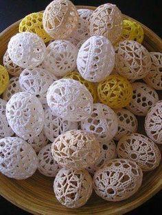 Horgolt tojások   Kötés - Horgolás