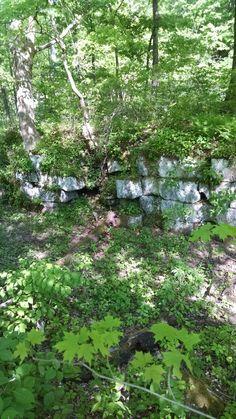Remnant of lock in Grimm's bridge area