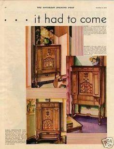 General Electric Radios Color Ad 2 Page (1930)