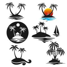 Palm Tree Island Cuttable Design Cut File. Vector, Clipart, Digital Scrapbooking Download, Available in JPEG, PDF, EPS, DXF and SVG. Works with Cricut, Design Space, Sure Cuts A Lot, Make the Cut!, Inkscape, CorelDraw, Adobe Illustrator, Silhouette Cameo, Brother ScanNCut and other compatible software.