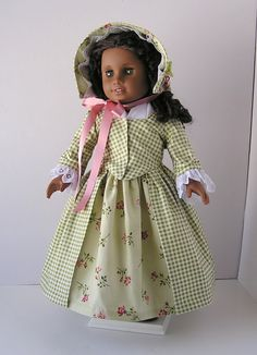 1770's dress for 18 doll by blinkersoh on Etsy, $45.00