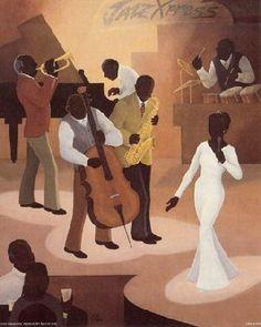 African-American Art | Black Art Prints depicting Jazz Musicians
