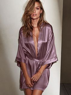 Perfect for layering! Satin Kimono Very Sexy from Victoria Secret $49.50 Clothing, Shoes & Jewelry - Women - Lingerie, Sleepwear & Loungewear - http://amzn.to/2kMZiFM