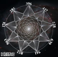 The Sacred Geometry of the Sacred Solfeggio frequencies. Simon Wieland Art, Sacred Geometry.