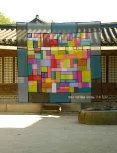 Quilted Curtains, Korean Crafts, Fiber Art Quilts, Korean Art, Korean Style, Crazy Patchwork, Textiles, Types Of Craft, Korean Traditional