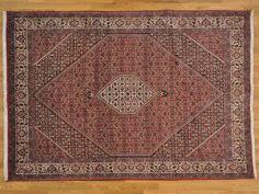6.5' x 9.5' 300 kpsi Hand Knotted 100% Wool Persian Bidjar Oriental Rug -