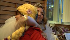 www.themagicyarnproject.com  Princess Isabella and Holly Christensen at The Providence Cancer Center in Anchorage, Ak.