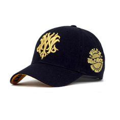 Casquette Baseball Sport hat cap Unisex Black noir doré
