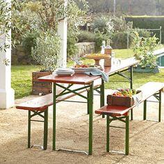 Vintage Biergarten Table