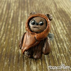 Ewok Polymer Clay Ring.