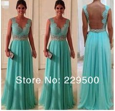 Sweetheart Lace Top Green Crystal A Line Floor Length Chiffon Long Prom Dress Evening Dresses-in Evening Dresses from Apparel & Accessories ...