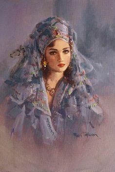 Beautiful women images in art Woman Painting, Painting & Drawing, Illustration Art, Illustrations, Turkish Art, Turkish Beauty, Painted Ladies, Fine Art, Beautiful Paintings