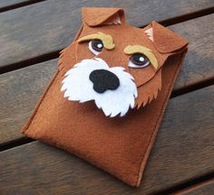 Mobile Phone Case made and designed entirely by hand with shape of a Fox Terrier dog. It is a unique design that impresses everyone who sees it.   Items are made to order, if you want the cover...
