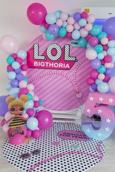 Bellísimas fiestas Lol Surprise   Tarjetas Imprimibles 5th Birthday Party Ideas, Birthday Party Decorations, 7th Birthday, Aaliyah Birthday, Doll Party, Lol Dolls, Unicorn Party, Party Planning, Party Time