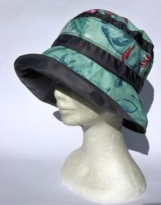 women hat rain waterproof grey with flowers design all Women Hat 1507449140a