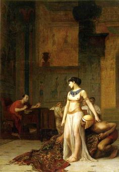 Cleopatra and Caesar by Jean-Leon-Gerome - Cléopâtre VII — Wikipédia