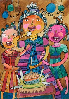 Happy Birthday by Sathmi Ruwanya, featured in the free Look and Learn children's art gallery