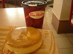 Tim Hortons is the home of the Canadian maple doughnut, which is perhaps the most perfect doughnut known to mankind. | 26 Canadian Foods You Need To Try