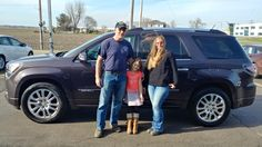 Mary's new 2015 gmc acadia! Congratulations and best wishes from Kunes Country Ford Lincoln of Sterling and John Thayer.