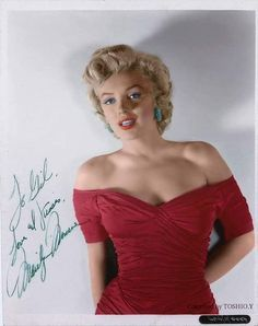 Marilyn Monroe autographed photo to Gil