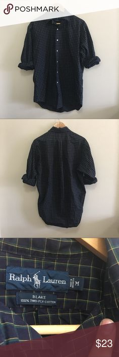 Ralph Lauren Blake Checkered Button Down M No flaws.  Size M Ralph Lauren Shirts Casual Button Down Shirts