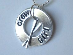 rowing necklace crew girl washer necklace with by TumbleThreads, $12.50
