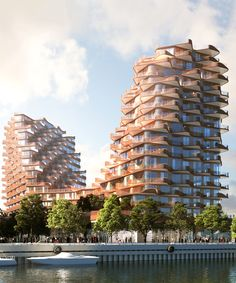 3XN's toronto residences reference the rippling surface of lake ontario