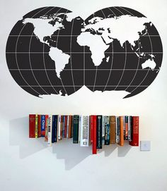 Globe map wall decal Office wall decor by WorldMaps on Etsy, $58.00