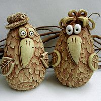 bienes Líísteček minorista / Catálogo | Fler.cz Clay Birds, Ceramic Birds, Ceramic Animals, Ceramic Pottery, Paper Mache Clay, Clay Art, Pottery Animals, Art Diy, Polymer Clay Animals