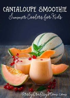 Healthy Melon Banana Smoothie   This sounds like such a delicious healthy treat for kids!