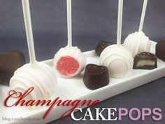 {Easy} Champagne cake pops and hearts with champagne buttercream frosting! Happy Valentine's Day!