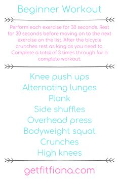 Since it's Wednesday, that means I'm sharing a workout here on Get Fit Fiona. Before I get into the beginner workout that I've created, I wanted to share my gym workout from yesterday morning. I ended up Gym Workouts, At Home Workouts, Gym Workout For Beginners, Beginner Workouts, Steady State Cardio, Bicycle Crunches, Overhead Press, Knee Up, My Gym